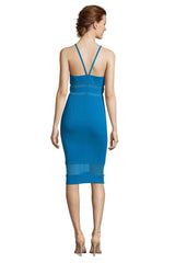 MCGUINN PEACOCK SHEER PANELED DRESS - FINAL SALE