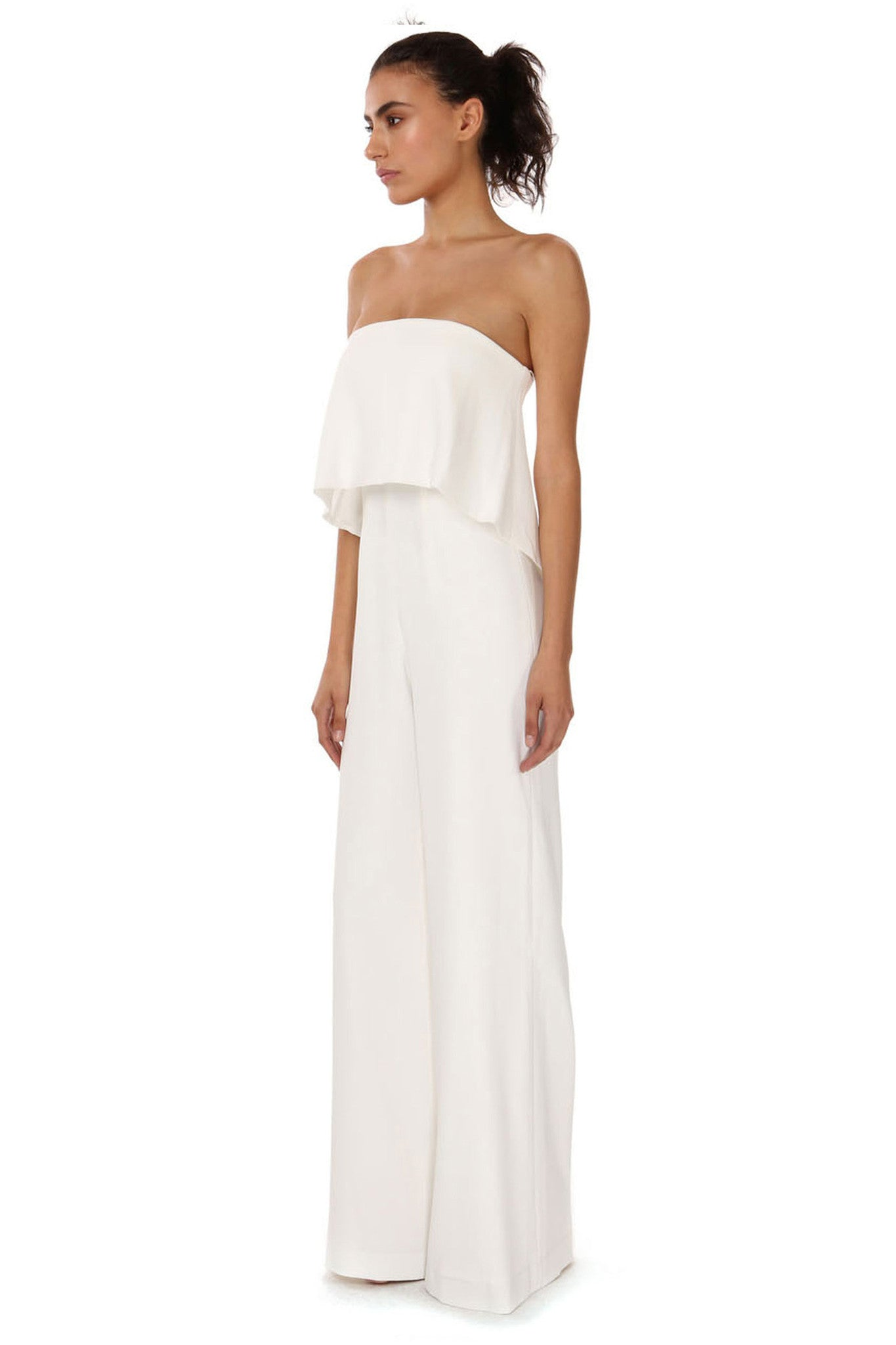Jay Godfrey Ivory Tiered Jumpsuit - Side View