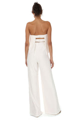 Jay Godfrey Ivory Tiered Jumpsuit - Back View
