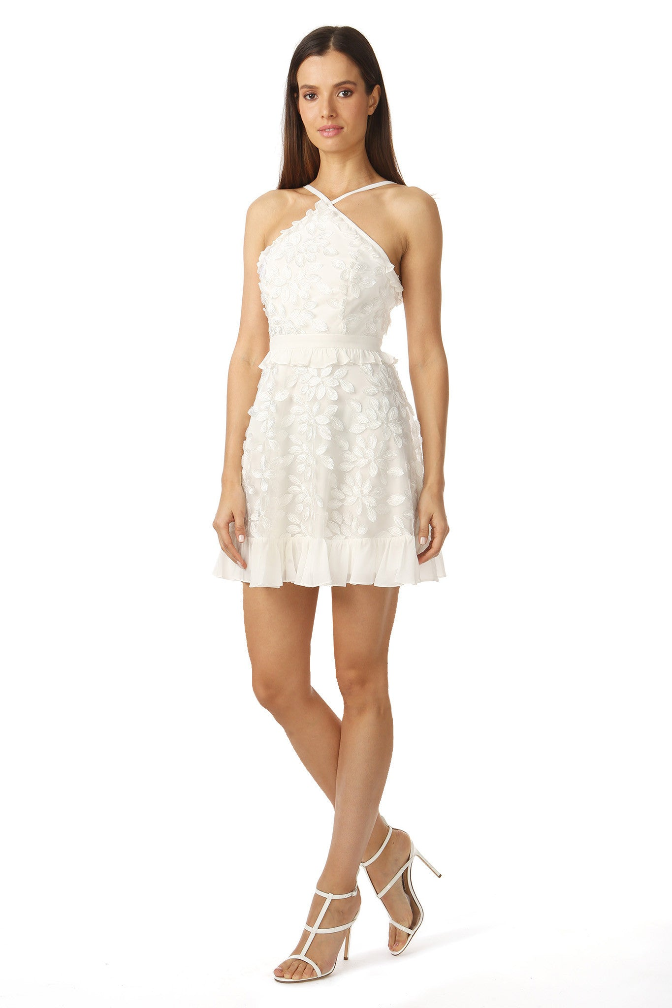 Jay Godfrey White Floral Midi Dress - Side View