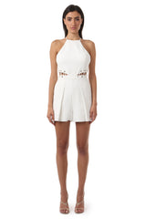 Jay Godfrey Ivory Cut-Out Romper - Front View