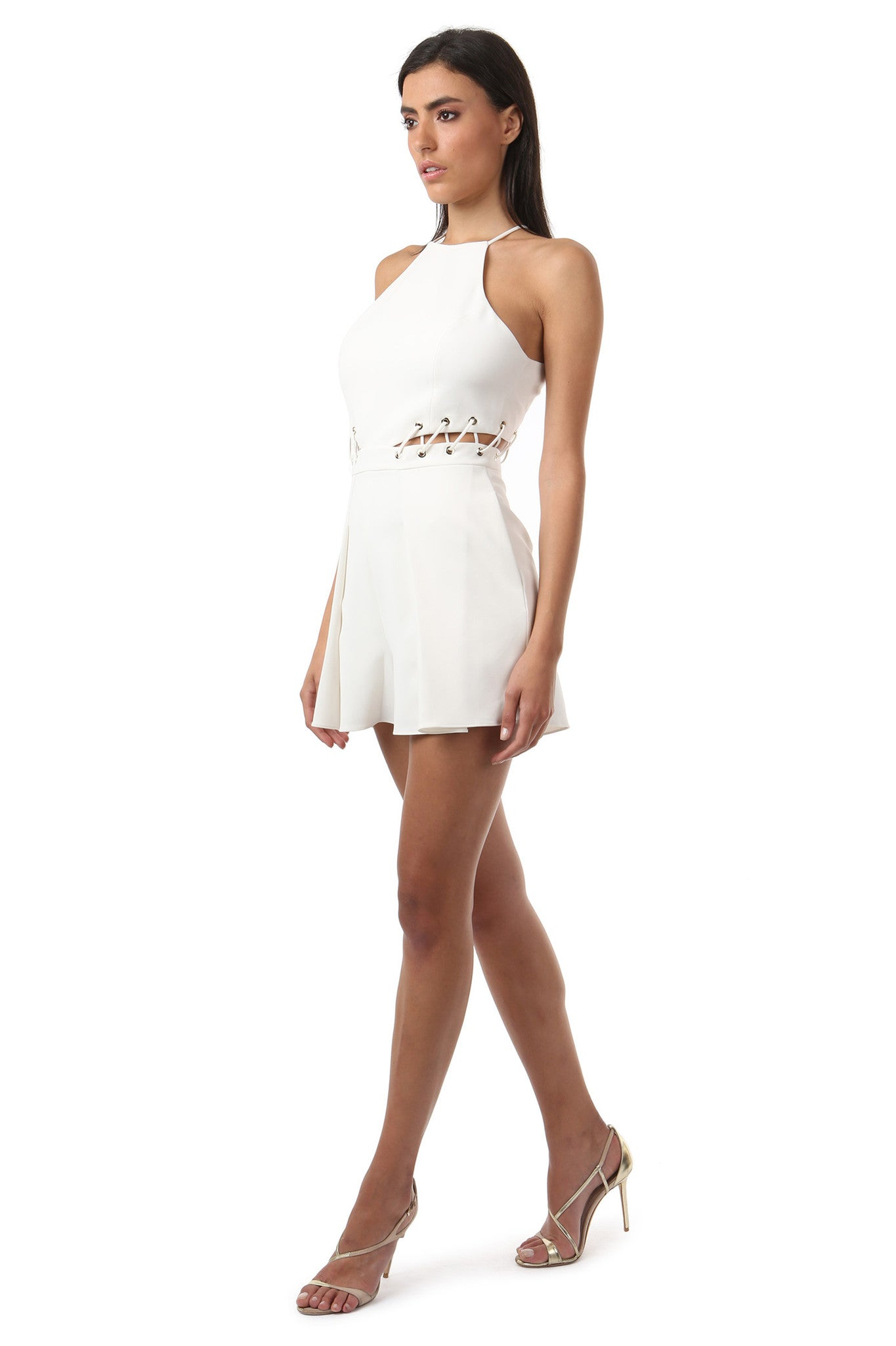 Jay Godfrey Ivory Cut-Out Romper - Side View