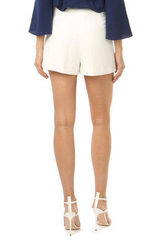 ORR LIGHT IVORY PLEATED FRONT SHORTS