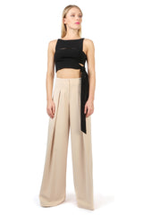Jay Godfrey Sand Wide-Leg Pants - Full View