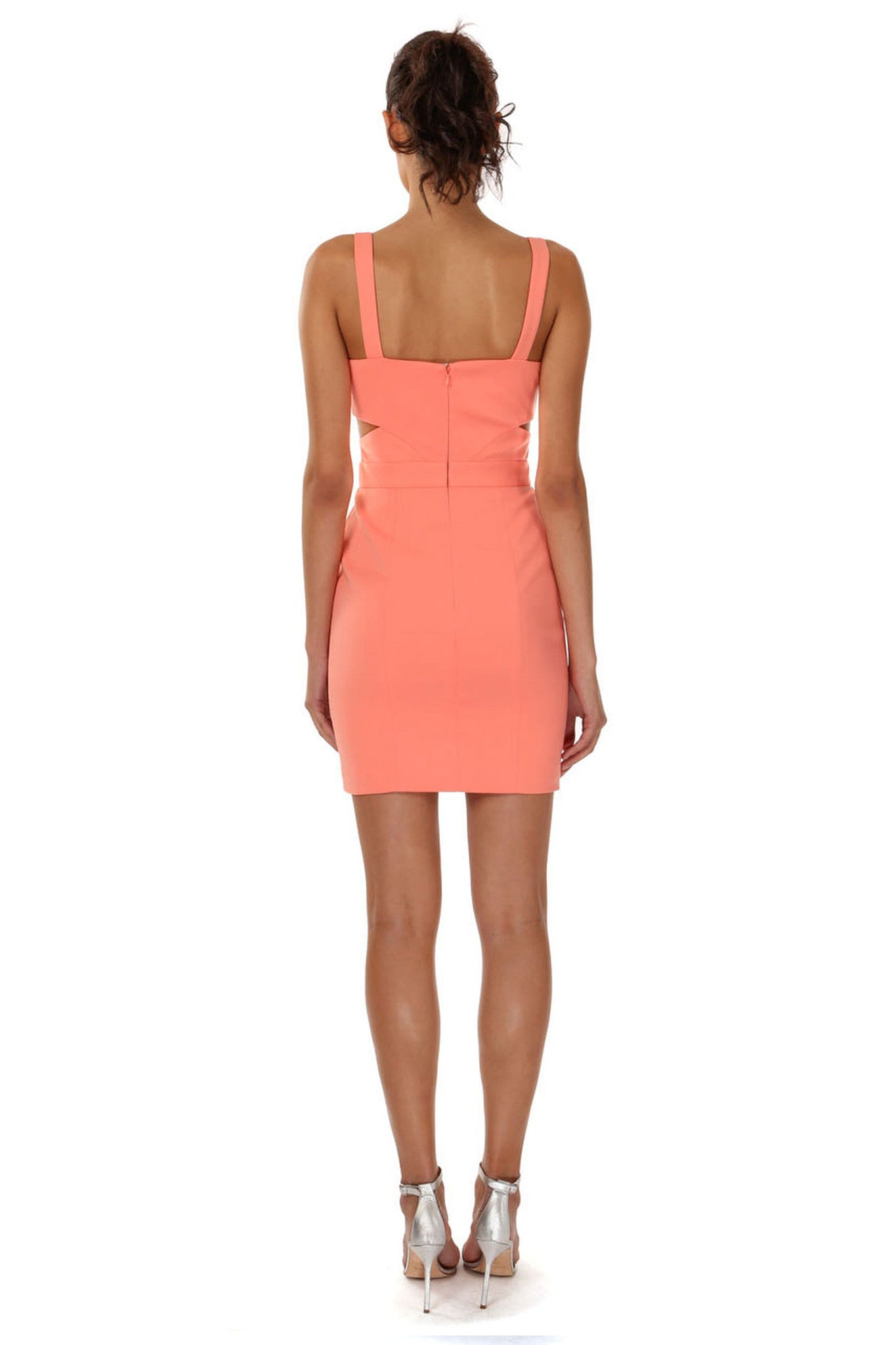 Jay Godfrey Orange Cross Front Mini Dress - Back View
