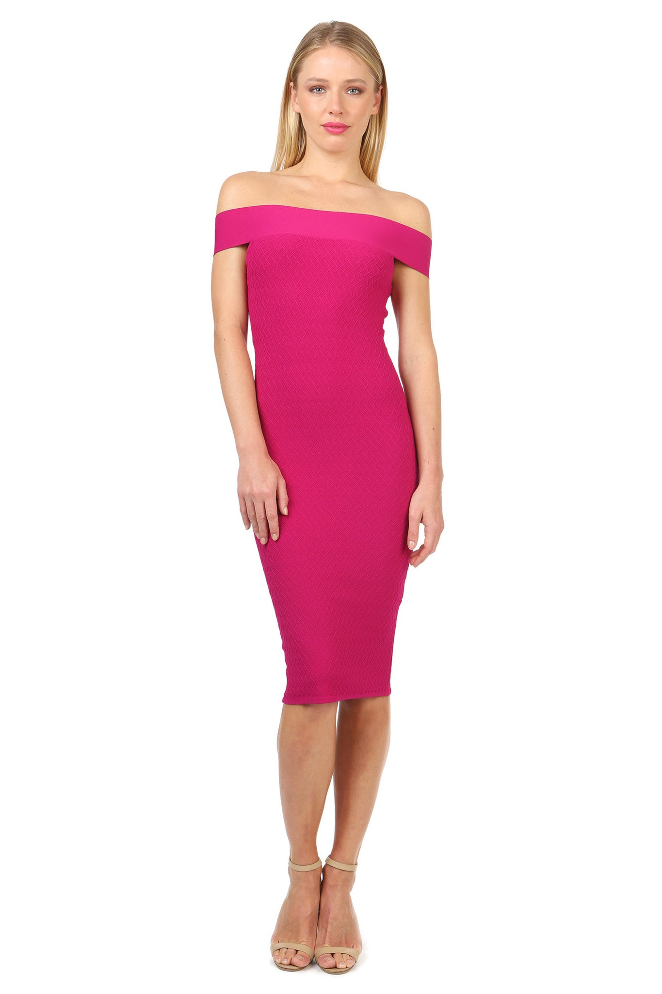 Jay Godfrey Fuschia Body-Con Dress - Front View