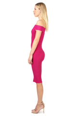 Jay Godfrey Fuschia Body-Con Dress - Side View