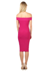 Jay Godfrey Fuschia Body-Con Dress - Back View