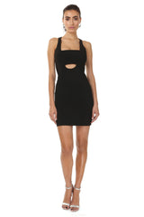 Jay Godfrey Black Bandeau Mini Dress - Front View