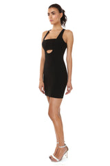 Jay Godfrey Black Bandeau Mini Dress - Side View