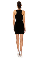 Jay Godfrey Black Bandeau Mini Dress - Back View