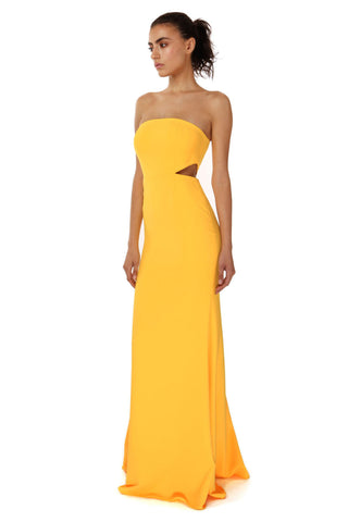 SCOTTY SUNFLOWER STRAPLESS DRESS