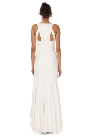 WEST LIGHT IVORY WATERFALL GOWN