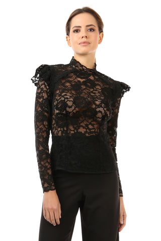 HEALY BLACK LACE TOP - FINAL SALE