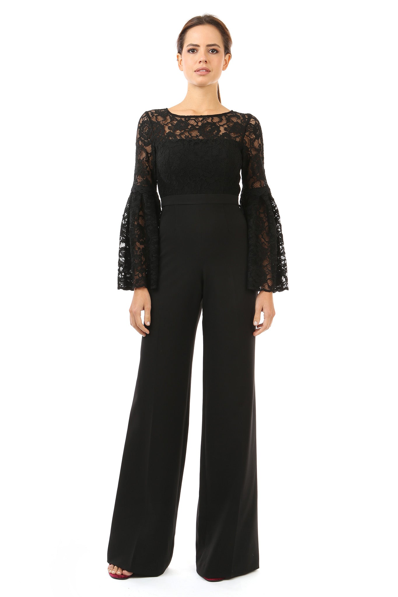 Jay Godfrey Lace Jumpsuit - Front View