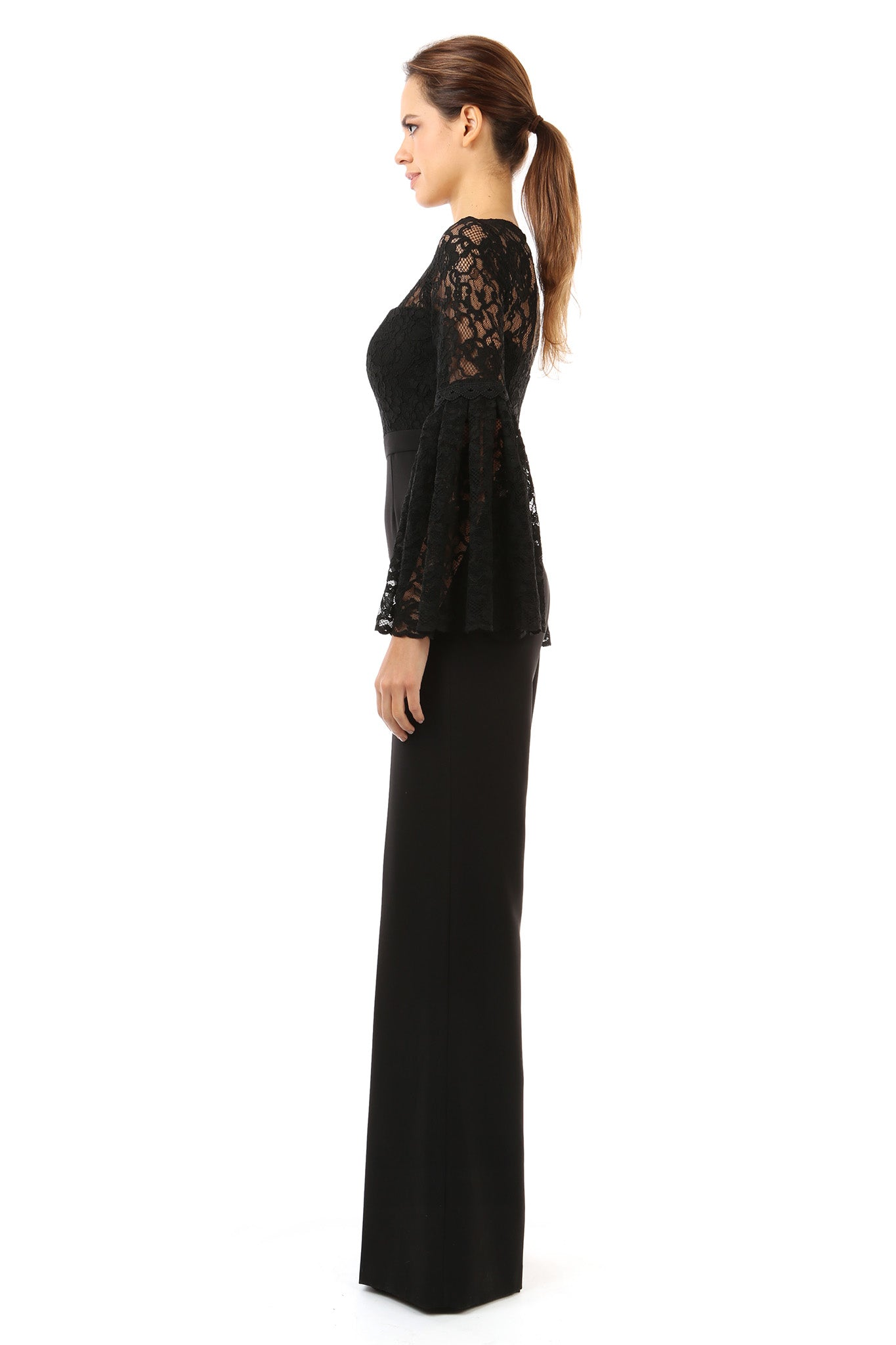 Jay Godfrey Lace Jumpsuit -Side View