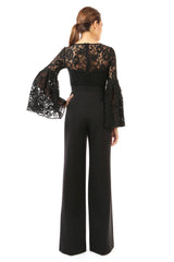 Jay Godfrey Lace Jumpsuit - Back View