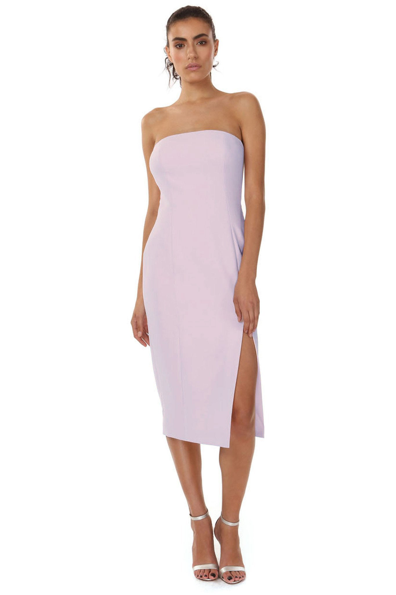 Jay Godfrey Strapless Dress with Slit - Front View