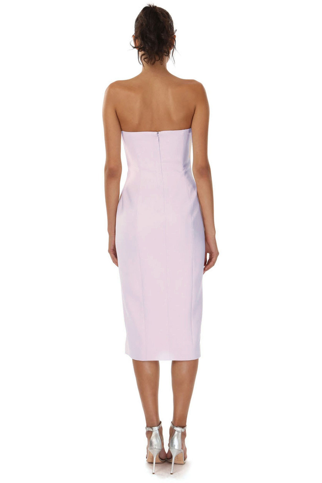 Jay Godfrey Strapless Dress with Slit - Back View