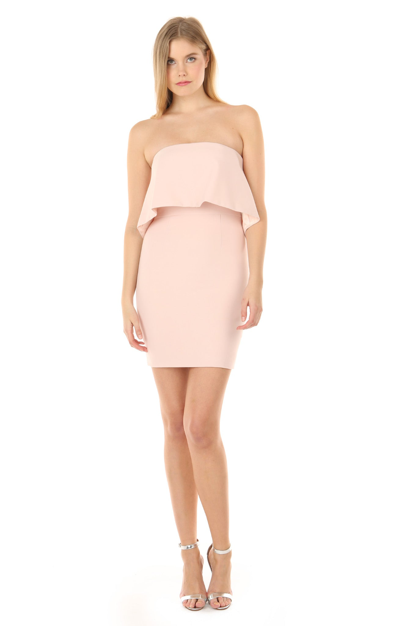 VIOLA BLUSH MINI DRESS