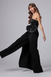 KINGS STRAPLESS JUMPSUIT WITH SIDE SKIRT
