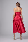 PETTIGREW STRAPLESS MIDI DRESS
