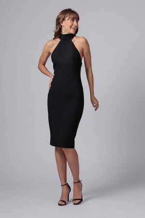 SOORI HIGH NECK MIDI DRESS