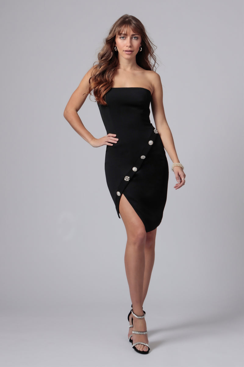 WARNER STRAPLESS MINI DRESS