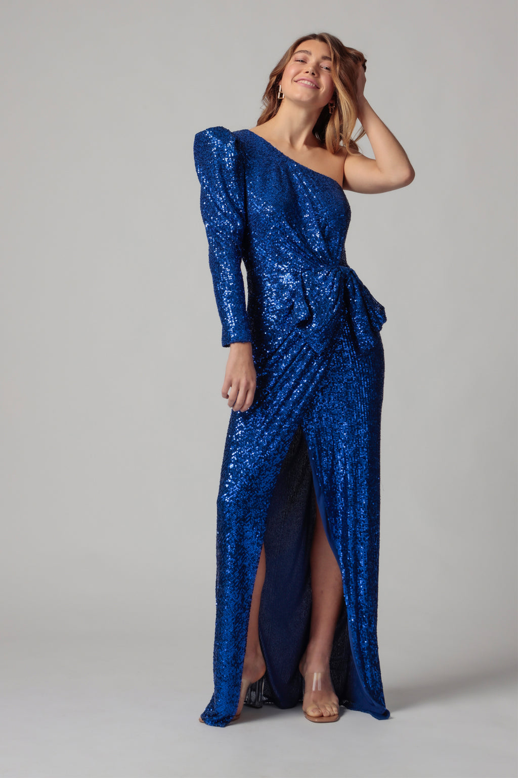 ANDI ONE SHOULDER SEQUIN GOWN