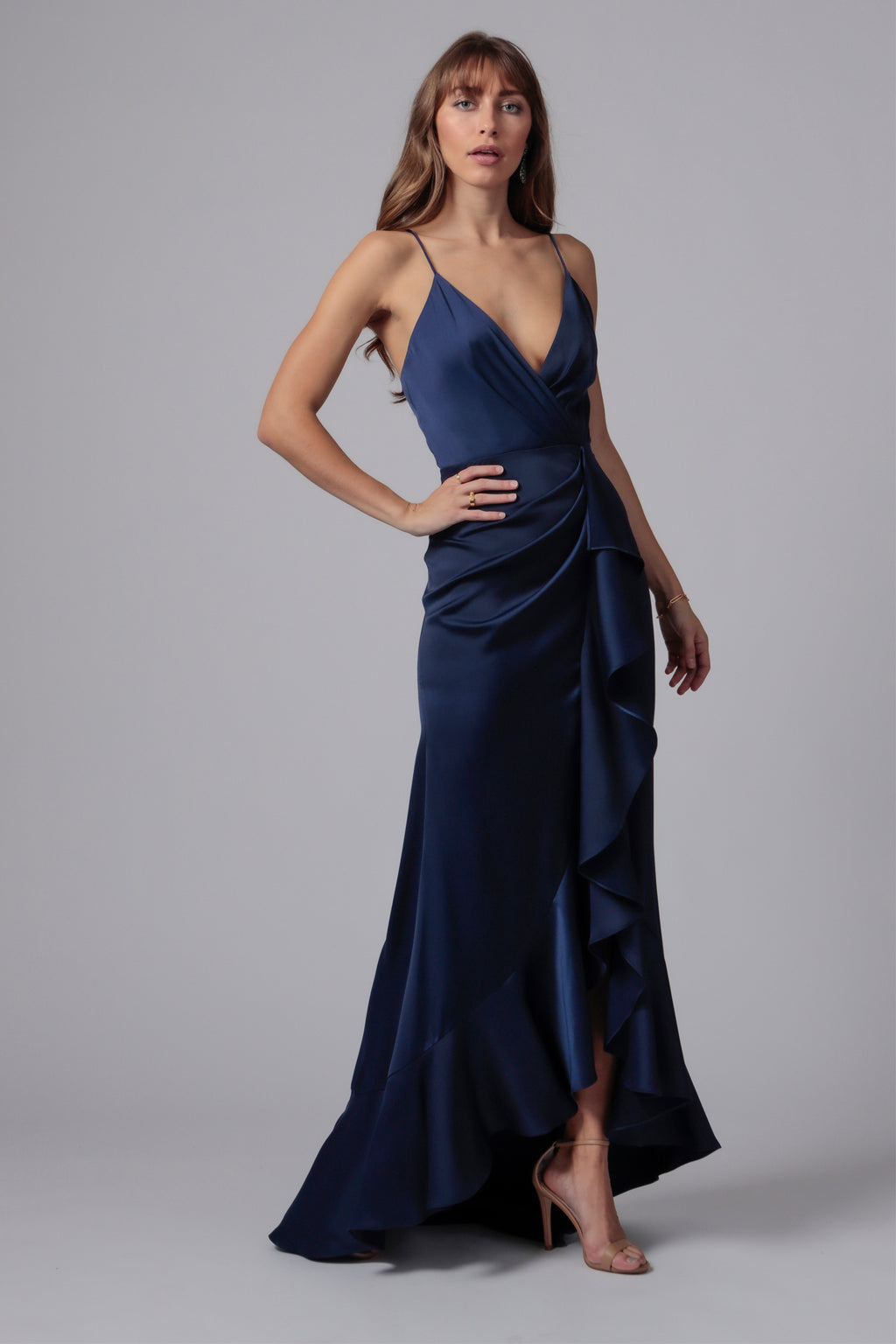 ELSIE RUFFLE FRONT GOWN