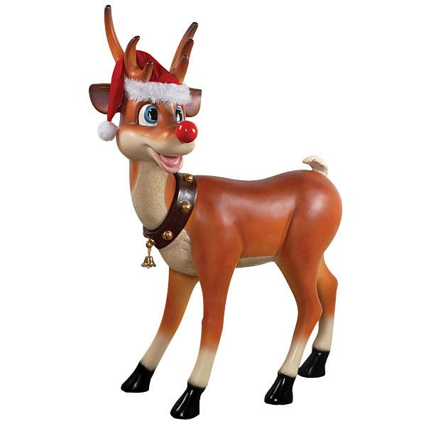 AFD Standing Reindeer Statuary AFD Multi-Colored