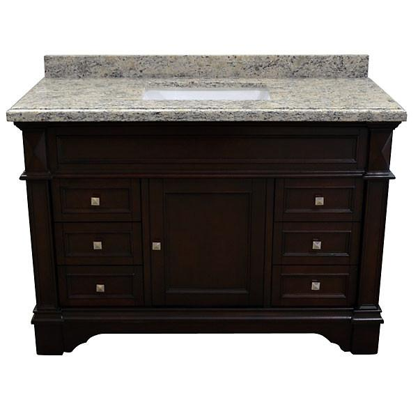 "AFD Elite Vanity - Seasoned 48"" Single Sink Freestanding Bathroom Vanity"