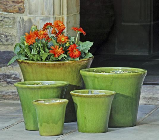 Campania International Glazed Terra cotta Delphine Planter Urn/Planter Campania International