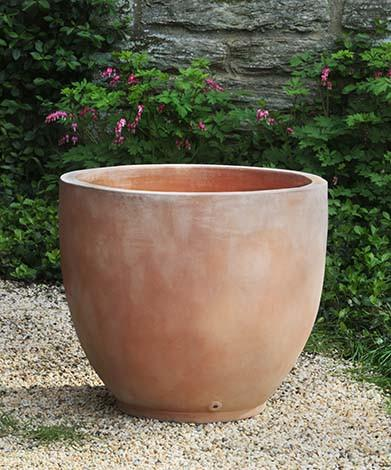 Campania International Terra cotta Causago Round Planter