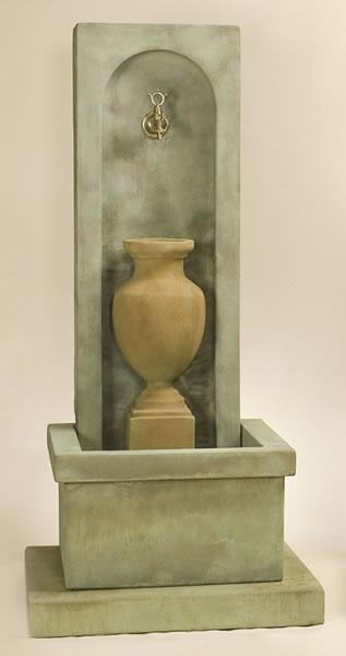 Amphorae Wall Outdoor Cast Stone Garden Fountain For Spout Fountain Tuscan