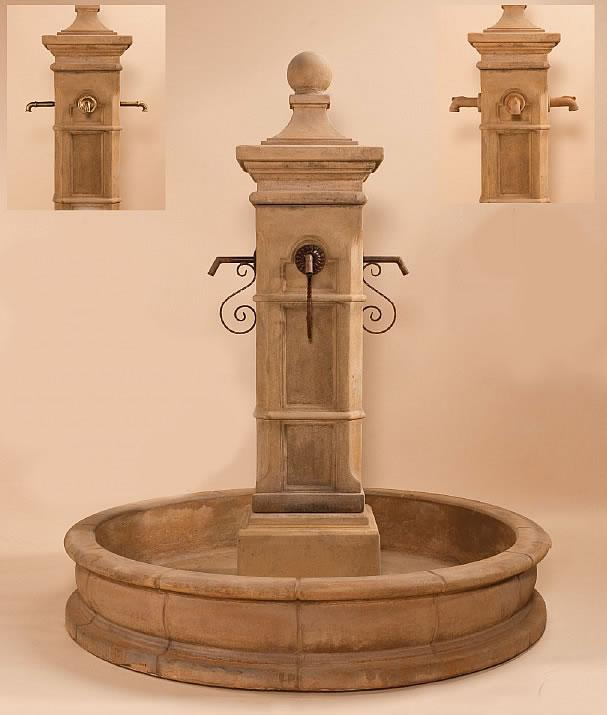 Aquitaine Pond Outdoor Cast Stone Garden Fountain Fountain Tuscan
