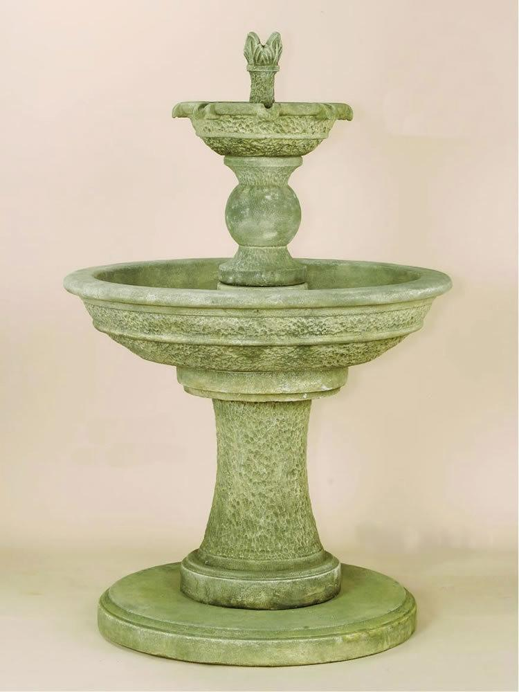 Antiquarium Two Tier Cast Stone Outdoor Water Fountain Fountain Tuscan