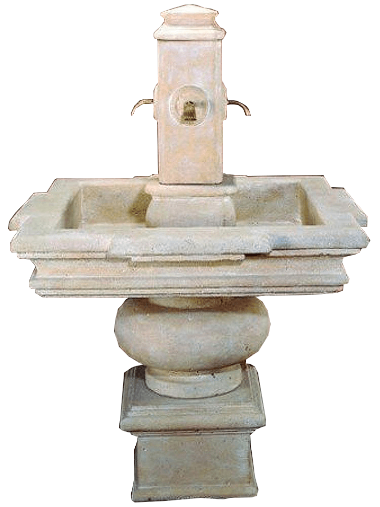 Versilia Cast Stone Outdoor Garden Water Fountain For Spout Fountain Tuscan