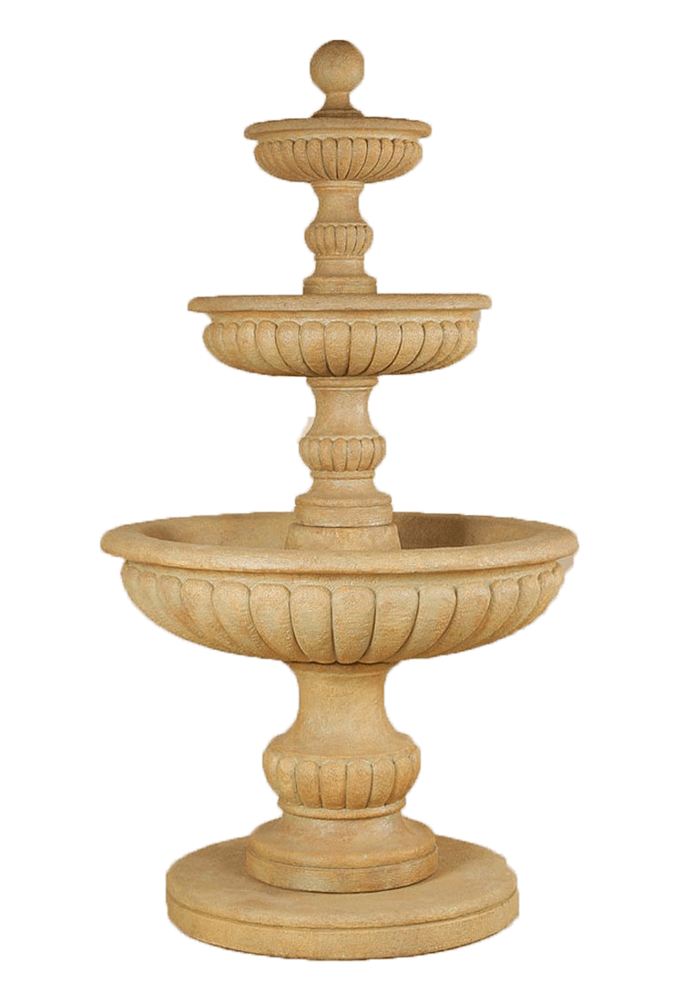 Acqua Sparta Three Tier Cast Stone Outdoor Garden Fountain Fountain Tuscan