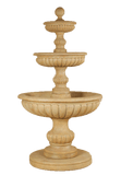 Acqua Sparta Three Tier Cast Stone Outdoor Garden Fountain