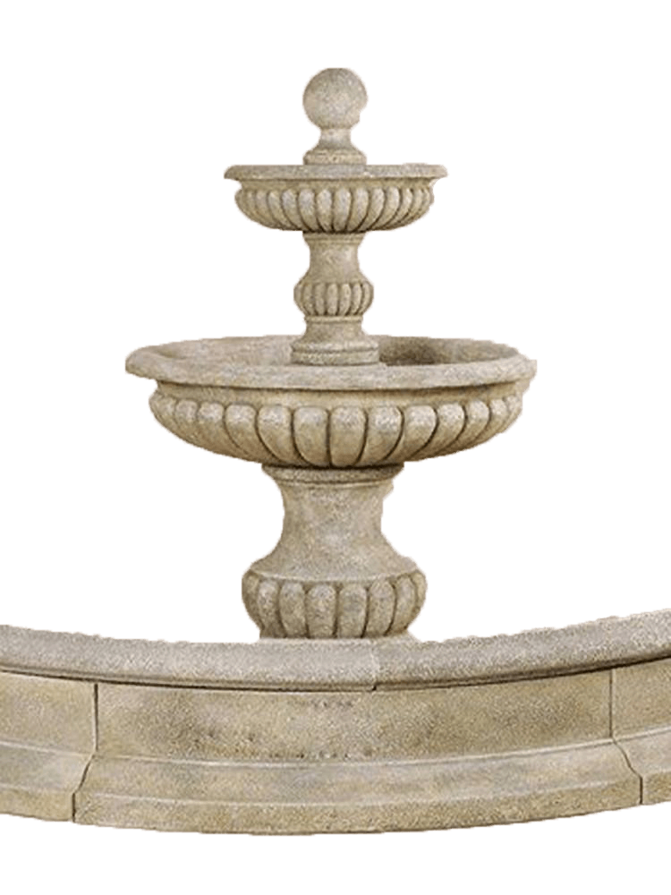 Acqua Sparta Two Tier Cast Stone Outdoor Water Fountain For Pond Fountain Tuscan
