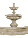 Acqua Sparta Two Tier  Cast Stone Outdoor Water Fountain For Pond