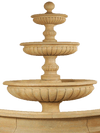Acqua Sparta Three Tier Cast Stone Outdoor Garden Fountain for Pond Fountain Tuscan