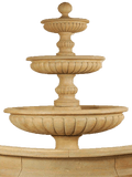 Acqua Sparta Three Tier  Cast Stone Outdoor Garden Fountain for Pond