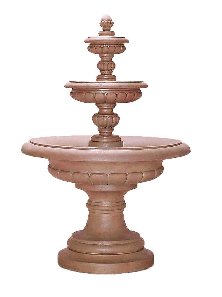 Via Roma Three Tier Cast Stone Outdoor Garden Fountain Fountain Tuscan