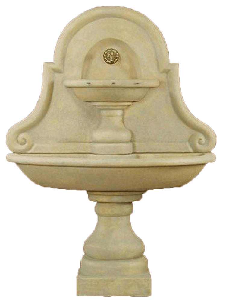 Belair Wall Cast Stone Outdoor Water Fountain For Spout Fountain Tuscan