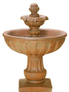 Alba Cast Stone Outdoor Garden Fountain Short Fountain Tuscan