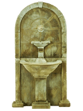 Amalfi Wall Cast Stone Outdoor Water Fountain for Spout