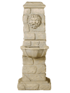 Green Man Column Cast Stone Outdoor Water Fountain With Spout Fountain Tuscan