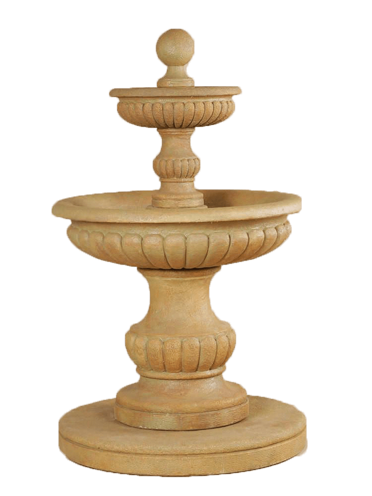 Acqua Sparta Two Tier Outdoor Water Cast Stone Garden Fountain Fountain Tuscan